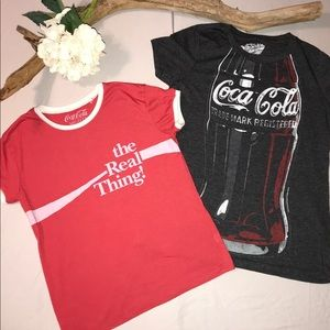 Two Coca-Cola T-shirts
